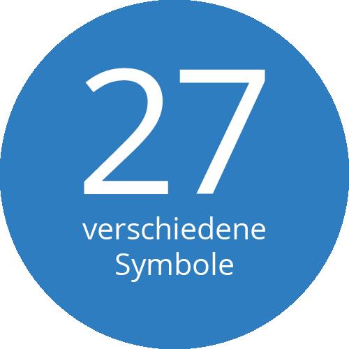 27 verschiedene Symbole