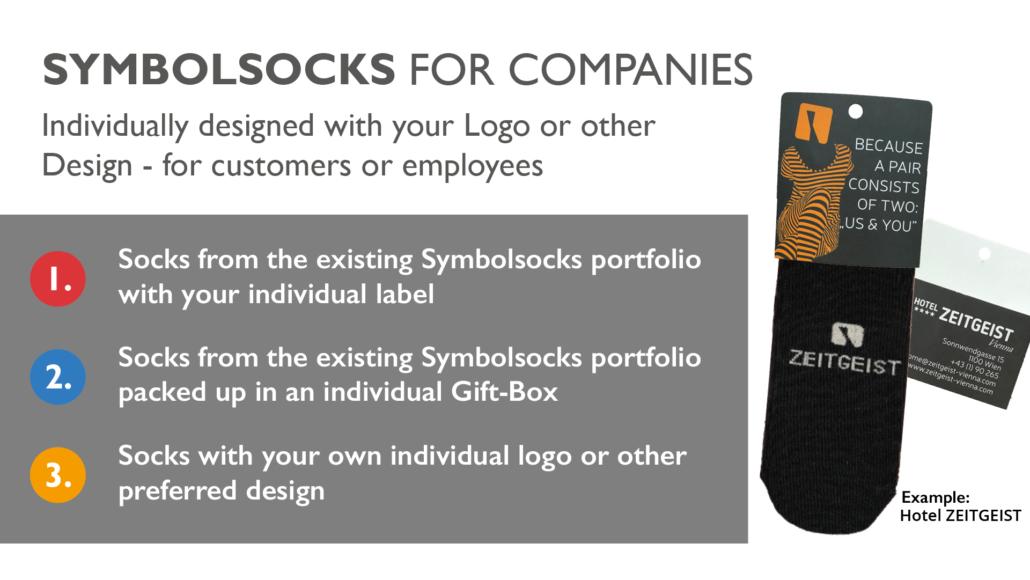 Symbolsocks Firmensocken Grafik