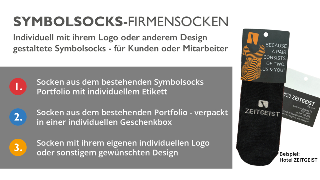 Symbolsocks Firmensocken Grafik